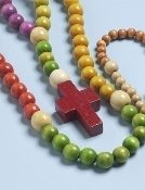 Non-toxic Wooden Children's Rosary, 20.5""