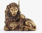 Lion with Lamb Ornament