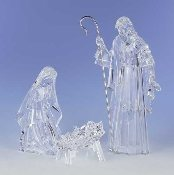 Holy Family, Cut Crystal Look