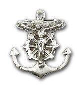 Anchor Crucifix, SS, SN 24""