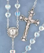 Crystal Heart Rosary