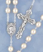 Double Capped Pearl Rosary
