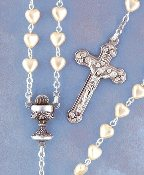 Pearl Heart Communion Rosary