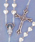 White Heart Rosary