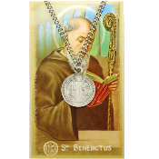 St. Benedict Medal and Prayer Card