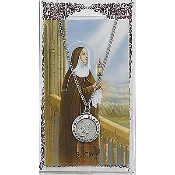 St. Clare Medal and Prayer Card