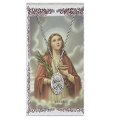 St. Lucy Medal and Prayer Card