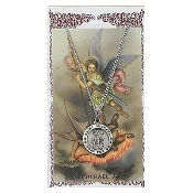 St. Michael Medal and Prayer Card