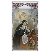 St. Rita Medal and Prayer Card