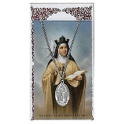 St. Teresa Medal and Prayer Card