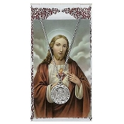 Sacred Heart Medal and Prayer Card