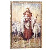 "Panel, The Good Shepherd, 26""H"