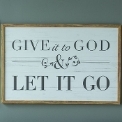 Give it to God Wall Art
