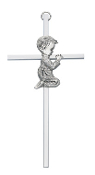 Praying Boy Silver Cross