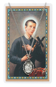 St. Gerard Pewter Medal on 18'' Chain and Prayer Card