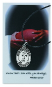 Football Pewter Medal and Prayer Card
