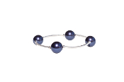 Midnight Blue Pearl Blessing Bracelet