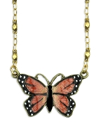 Mini Monarch Butterfly Necklace