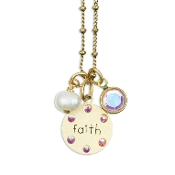 Mini Charm Jumble Faith Necklace