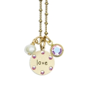Mini Charm Jumble Love Necklace