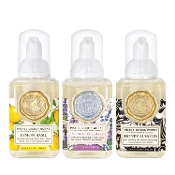 Mini Foaming Soap Set: Lavender Rosemary, Lemon Basil, Honey Almond by Michel Design Works