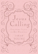 Jesus Calling: Enjoying Peace Deluxe Edition Pink Cover