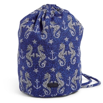Vera Bradley Ditty Bag in Seahorse of Course