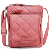 Vera Bradley RFID Mini Hipster in Strawberry Ice Performance Twill