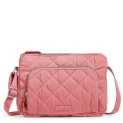 Vera Bradley Icinic RFID Little Hipster in Strawberry Ice Performance Twill