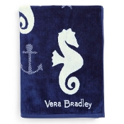 Vera Bradley Jacquard Beach Towel in Seahorse of Course