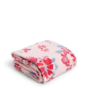 Vera Bradley Plush Throw Blanket in Pretty Posies Pink