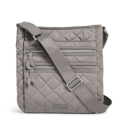 Vera Bradley Iconic Triple Zip Hipster in Tranquil Gray Performance Twill