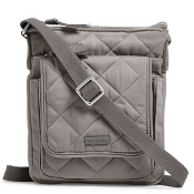 Vera Bradley Iconic RFID Mini Hipster in Tranquil Gray Performance Twill