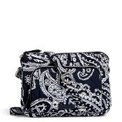 Vera Bradley Iconic RFID Little Hipster in Deep Night Paisley Performance Twill