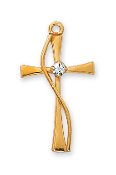 Cross with Stone Medal, 18''