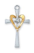 Cross with Heart Medal, 18''