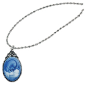 Mother & Child Cameo Necklace