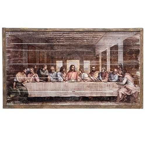 "Last Supper, Decorative Panel, 21""H"