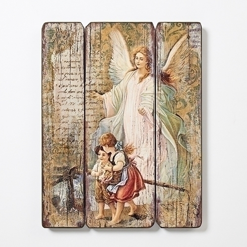 "Guardian Angel Decorative Panel, 15""H"