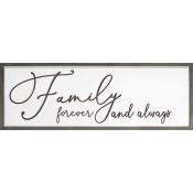 Family Forever Carved Wall Art