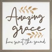 Amazing Grace Carved Wall Art